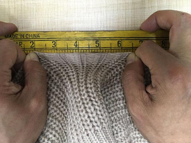 sweater tension measuring   Fine Knitting